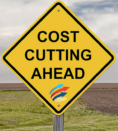 Cost cutting sign FC