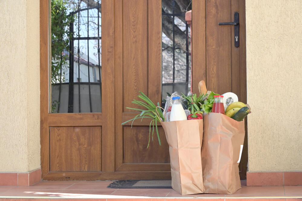 Groceries delivered on doorstep