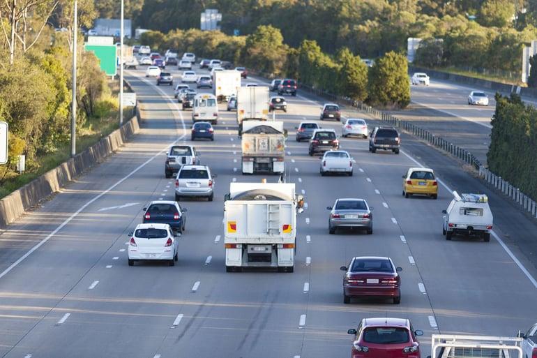 Australian freeway traffic